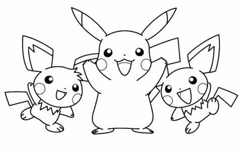 Disegno Di Gruppo Di Pokemon Da Colorare Disegni Da Colorare E