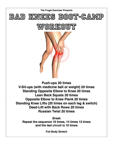 bad knees boot camp workout