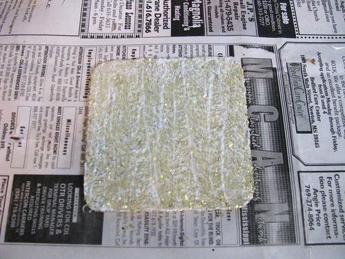Glitter Coaster Second Coat