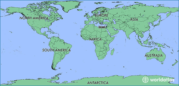 Israel Location In World Map