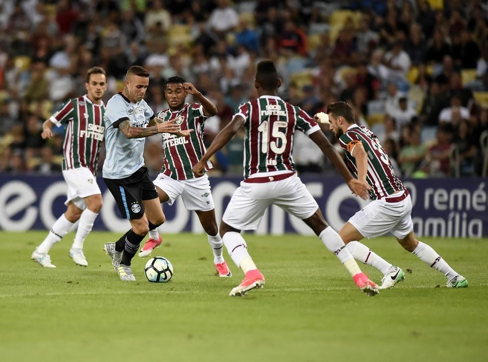 Luan anotou o segundo gol do Grêmio no Maracanã (Foto: André Durão)