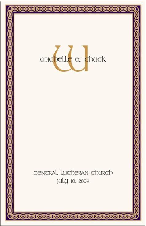 Celtic Wedding Program Example Wedding Directories Order