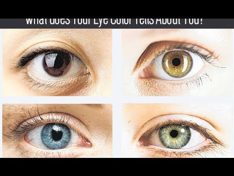 What Does Your Eye Color Says About Your Personality ?