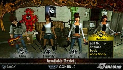 Rock Band Unplugged Screenshot