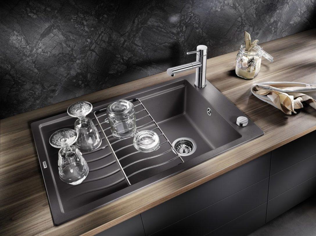 Küche Waschbecken Flächenbündig Messing Armatur Weiß ...