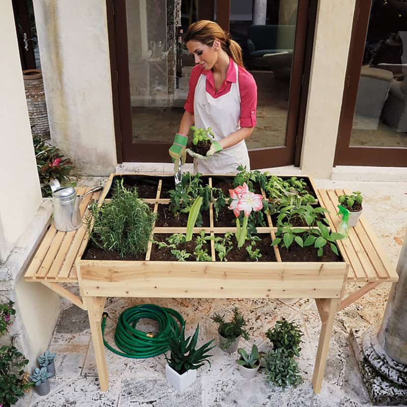Garden Tables Help You to Grow Veggies, Herbs and Flowers ...