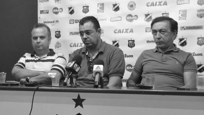 Diretores do ABC - Rogério Marinho, Marcelo Abdon e Rubens Guilherme (Foto: Jocaff Souza/GloboEsporte.com)