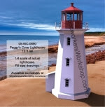 Peggys Cove Lighthouse Woodworking Plan 10ft tall - fee plans from WoodworkersWorkshop® Online Store - Peggys Cove lighthouse,lighthouses,marine, nautical,yard art,painting wood crafts,patterns,drawings,plywood,plywoodworking plans,woodworkers projects,workshop blueprints