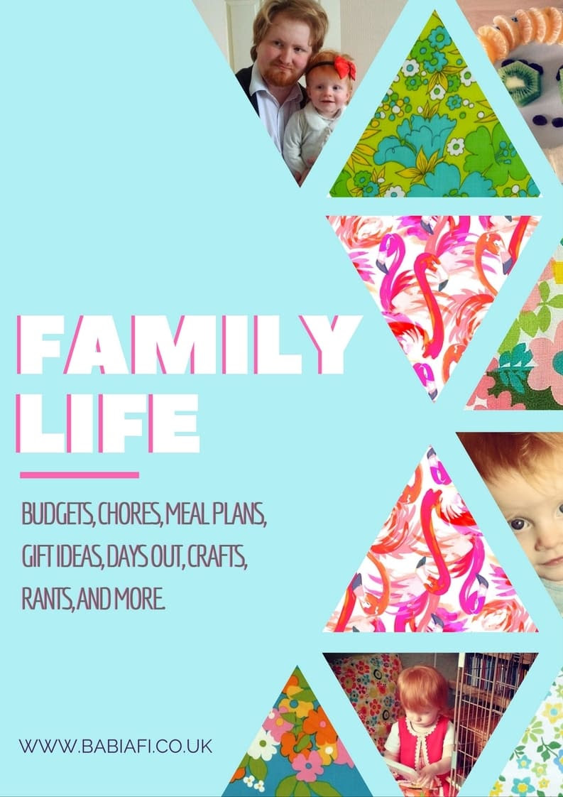 Family Life - budgets, chores, meal plans, gift ideas, days out, crafts, rants, and more.