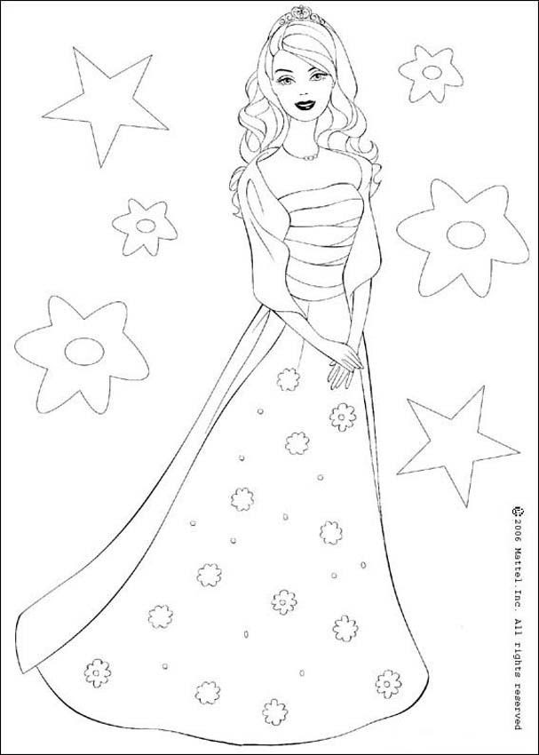 free coloring pages barbie