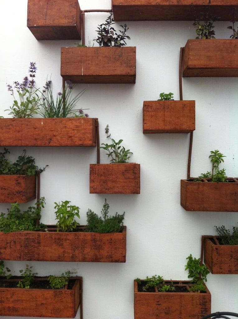 Wooden Boxes Indoor Herb Garden 764x1024