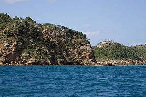 Typical rocky shoreline, Antigua