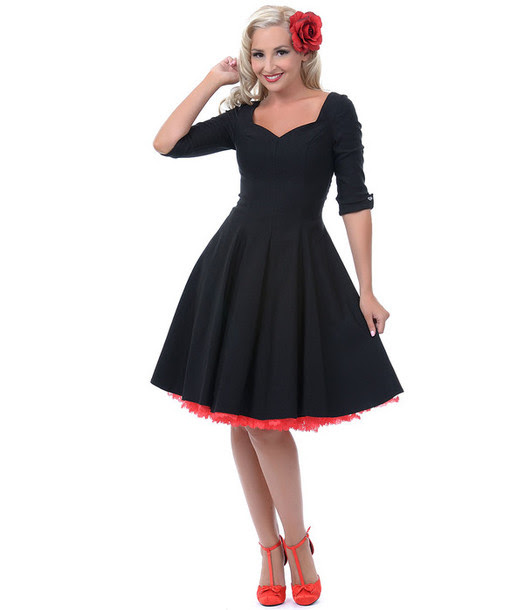 50s Dress Pin Up Pin Up Pin Up Pin Up Black Dress Party Dress