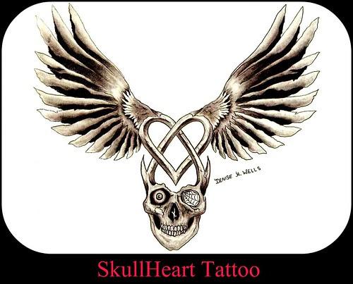 Winged Heart Tattoo Design. artwork
