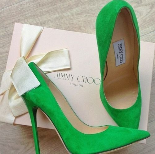 Jimmy Choo green heels