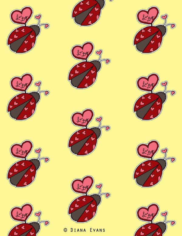 love bug gift wrap 2 - blog