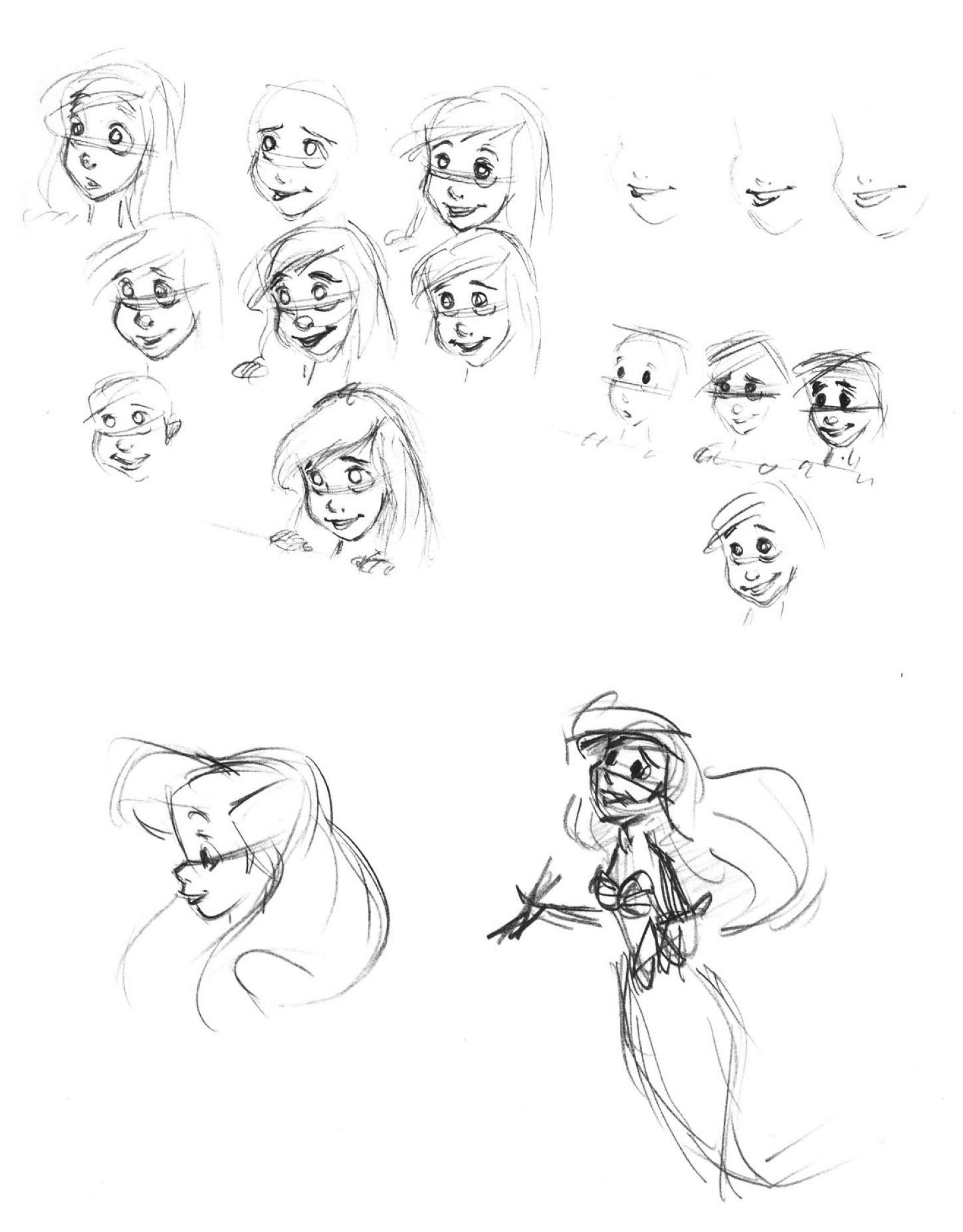 Coloriage  imprimer Personnages cél¨bres Walt Disney La Petite Sir¨ne numéro