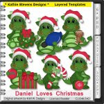 Daniel Loves Christmas Layered Templates - CU