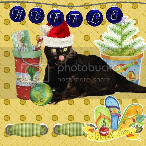 House Panther,Domestic Cat,Happy Holidays,Holly Daze,Santa
