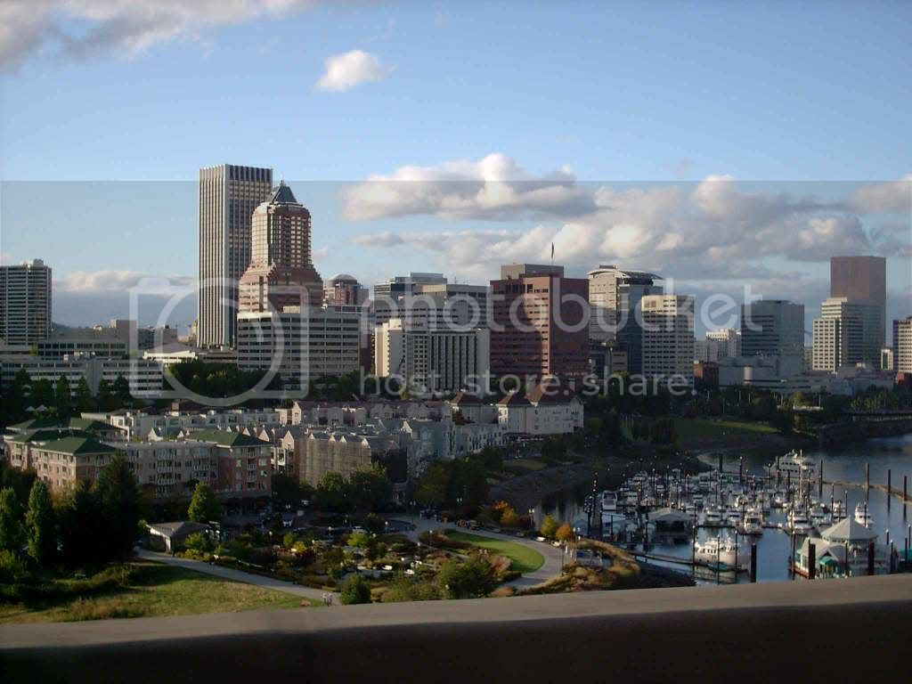 Portland Skyline From Marquam Bridge