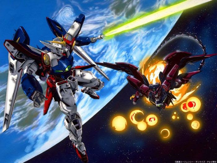 Wing Zero versus the Epyon.