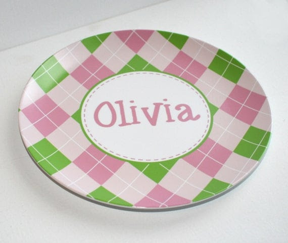 Personalized Melmac Plate