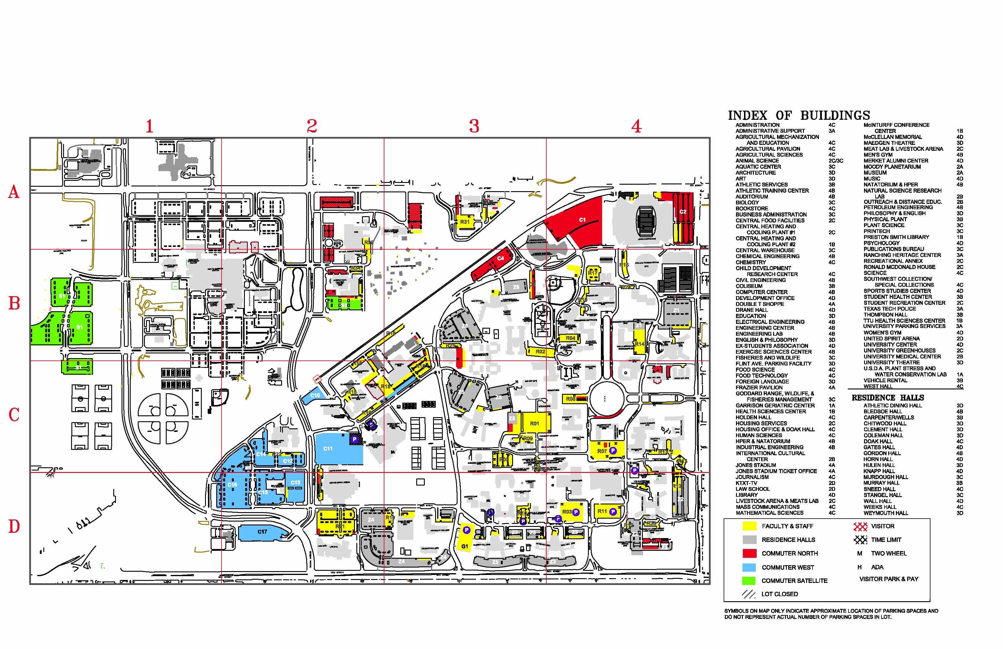 Ttu Parking Map | Gadgets 2018
