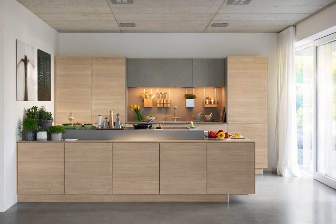 Küche Mit Insel Grundriss Kleine Moderne Ohne Geräte ...