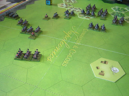 Initial skirmishing goes against the British