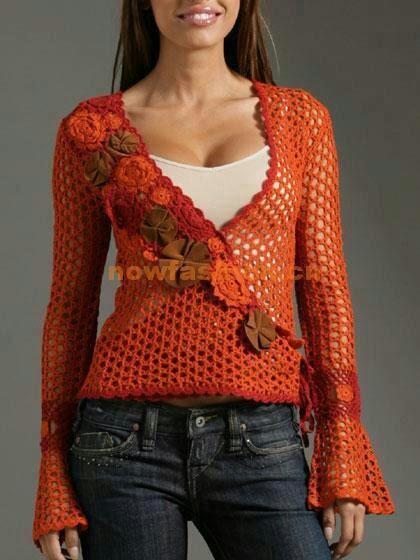 Blusa cor laranja
