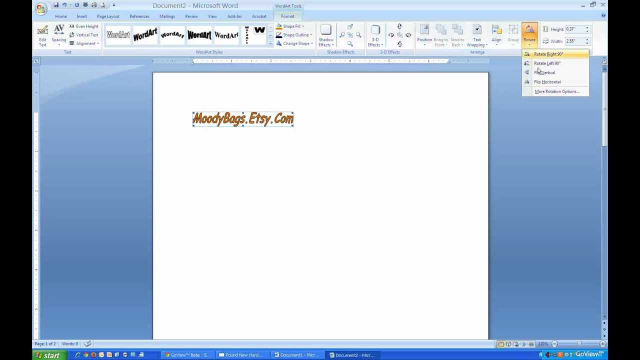 Flip or Reverse Text Using Microsoft Word - YouTube