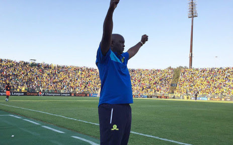 FILE: Mamelodi Sundowns coach Pitso Mosimane celebrates after his team won against Egypt's Zamalek, at the CAF final at the Lucas Moripe Stadium near Pretoria on 15 October 2016. Picture: Sundowns Twitter: @Masandawana
