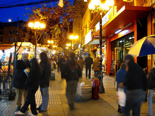 Streets of Valparaiso At Night