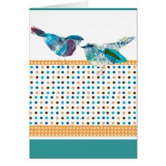 Blue Bird Modern Design card