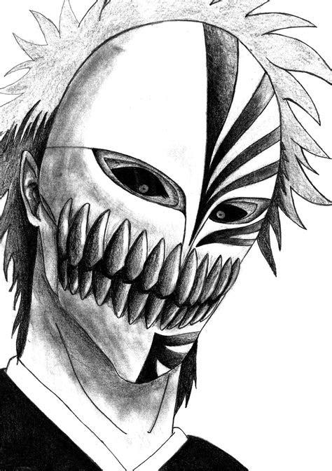 bleach kurosaki ichigo hollow maskshinigami anime