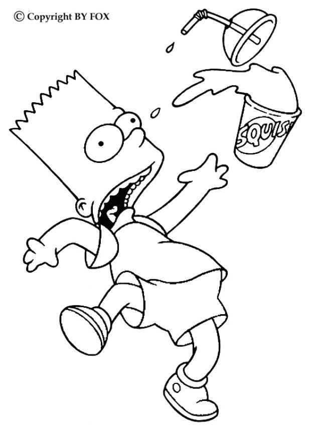 Coloriage Simpson Coloriages Coloriage à Imprimer Gratuit Fr