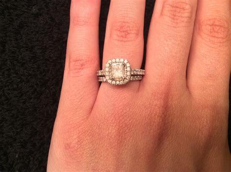 Zales Princess Cut Diamond Engagement Ring   Wedding Band