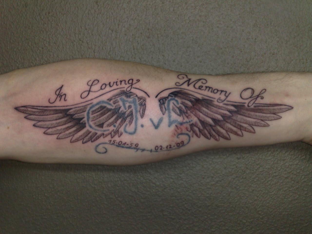 Latest Angel Wings Tattoos Design