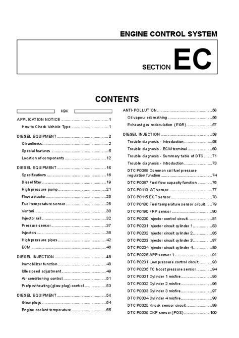 (PDF) Renault K9K ENGINE CONTROL SYSTEM | Darío Delvalle