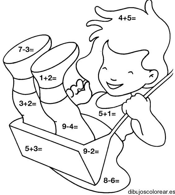 Dibujo De Una Niña Jugando