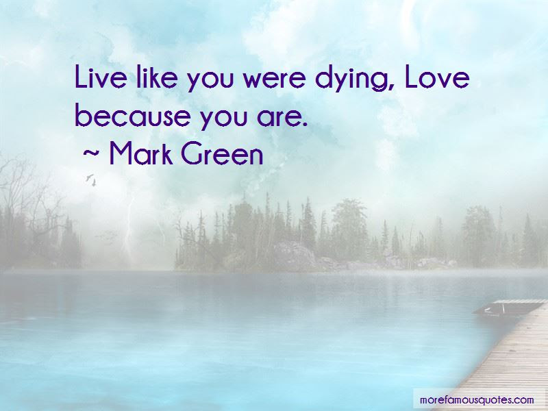 Mark Green Quotes Top 1 Famous Quotes By Mark Green