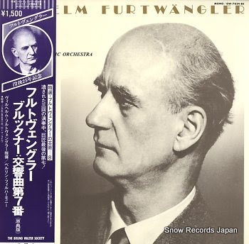 FURTWANGLER, WILHELM bruckner, anton; symphony no.7 in e major