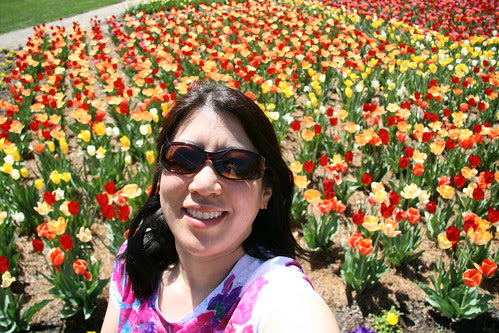 Me and the tulips