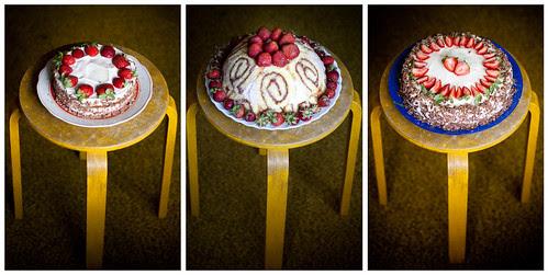 Kolm torti / Three cakes