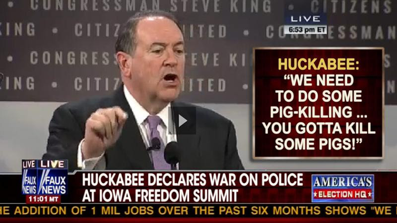 mike huckabee pig rant