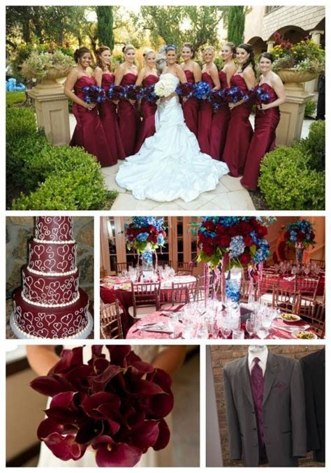wedding party navy, burgundy, gray   Yahoo Image Search