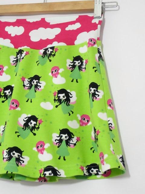 green fairy tennis skirt close