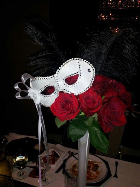 Phantom of the Opera theme centerpieces by me :)   Party