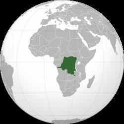 Vị trí của Cộng hòa Dân chủ Congo