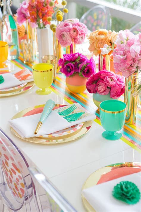 Colourful wedding decor table oh joy target ? Bespoke